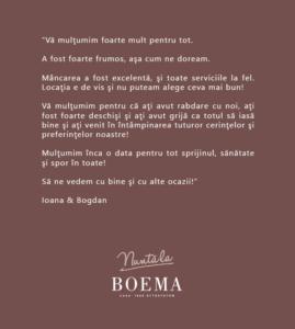 Restaurant de nuntă în Cluj-Napoca, Casa Boema