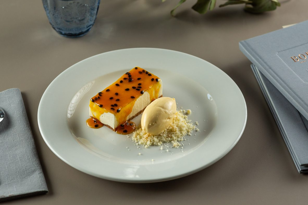 CHEESECAKE CU FRUCTUL PASIUNII - restaurantul Casa Boema, Cluj-Napoca